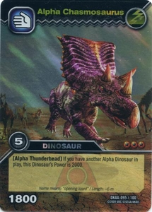 Dinosaur King TCG Alpha Dinosaurs Attack Single Card Colossal Rare DKAA-095 Alpha Chasmosaurus