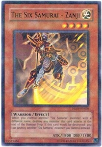 YuGiOh Hobby League Promo Card Single Parallel Rare HL05-EN005 The Six Samurai - Zanji