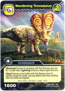 Dinosaur King TCG Alpha Dinosaurs Attack Single Card Colossal Rare DKAA-096 Wandering Torosaurus