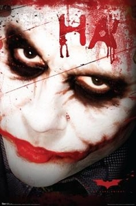 Batman Dark Knight Movie Poster Joker HA! [Style #9348]