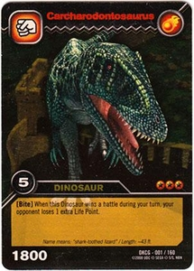Dinosaur King TCG Single Card Gold DKCG-001 Carcharodontosaurus