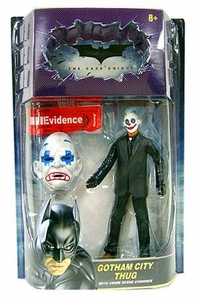 Batman Dark Knight Movie Master Deluxe Action Figure Gotham City Thug [Sad Mask, Plus Painted Eyes]