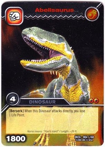 Dinosaur King TCG Single Card Silver DKCG-004 Abelisaurus