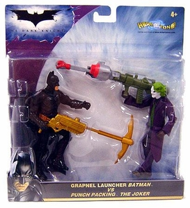 Batman Dark Knight Movie Action Figure 2-Pack Grapnel Launcher Batman & Punch Packing Joker