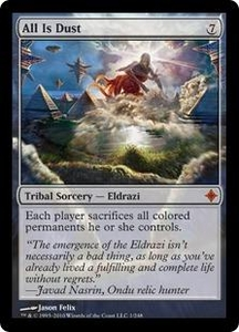 Magic the Gathering Rise of the Eldrazi Single Card Mythic Rare #1 All Is Dust