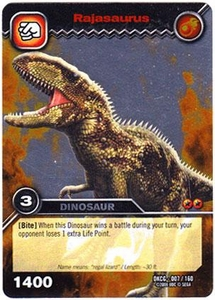 Dinosaur King TCG Single Card Silver DKCG-007 Rajasaurus