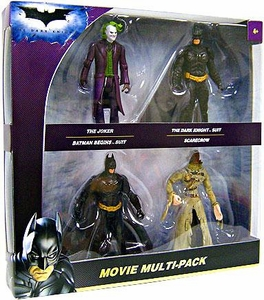 Batman Dark Knight Movie 4-Piece Action Figure Multi-Pack [Joker, Dark Knight Suit, Batman Begins Suit & Scarecrow]