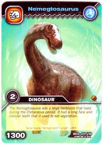 Dinosaur King TCG Single Card Common DKCG-024 Nemegtosaurus