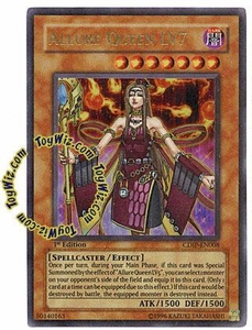 YuGiOh GX Cyberdark Impact Single Card Ultra Rare CDIP-EN008 Allure Queen LV7