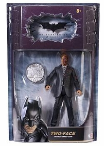 Batman Dark Knight Movie Master Deluxe Action Figure Two-Face with Double Sided Coin