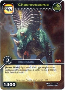 Dinosaur King TCG Single Card Silver DKCG-033 Chasmosaurus