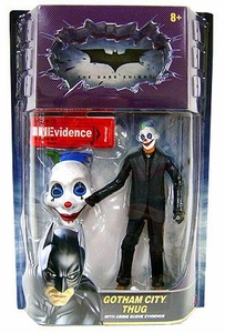 Batman Dark Knight Movie Master Deluxe Action Figure Gotham City Thug [Happy Mask, Blue & Green Hair]