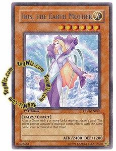 YuGiOh GX Cyberdark Impact Single Card Rare CDIP-EN025 Iris, the Earth Mother