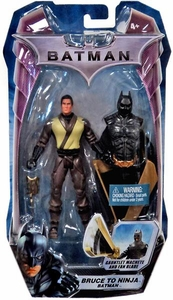 Mattel Batman Dark Knight Movie 5 Inch Action Figure Bruce to Ninja Batman