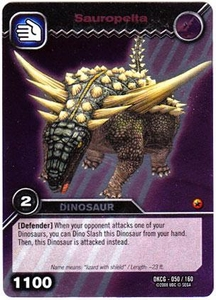 Dinosaur King TCG Single Card Silver DKCG-050 Sauropelta