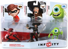 Disney Infinity Sidekicks Figure 3-Pack Mike Wazowski, Mrs. Incredible & Captain Barbossa