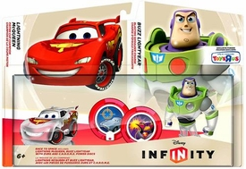 Disney Infinity Exclusive Race to Space Figure 2-Pack Lightning McQueen & Buzz Lightyear [Translucent Versions]