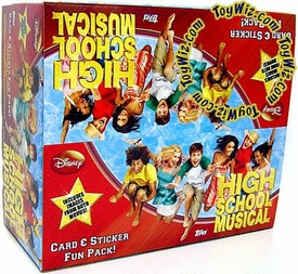 Topps High School Musical Trading Cards & Stickers Fun Box [24 Packs] Hard to Find!