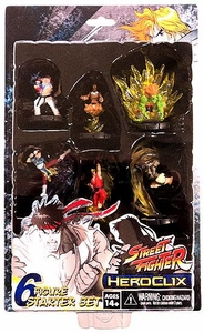 Street Fighter HeroClix Deluxe Starter Set Game [Includes 6 Figures]