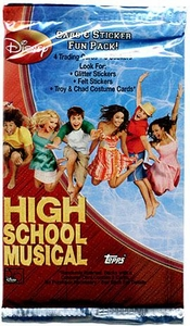 Topps High School Musical Trading Cards & Stickers Fun Pack Hard to Find!