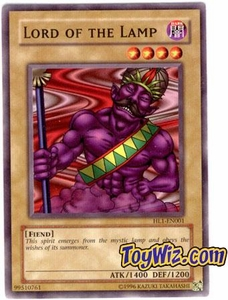 YuGiOh Hobby League Promo Card Single HL1-EN001 Lord of The Lamp