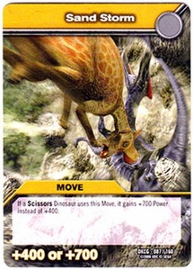 Dinosaur King TCG Single Card Common DKCG-087 Sand Storm
