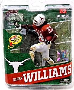 McFarlane Toys NCAA COLLEGE Football Sports Picks Series 4 Action Figure Ricky Williams (Texas Longhorns) Orange Jersey