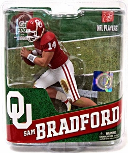 McFarlane Toys NCAA COLLEGE Football Sports Picks Series 4 Action Figure Sam Bradford (Oklahoma Sooners)
