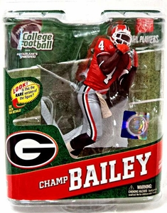 McFarlane Toys NCAA COLLEGE Football Sports Picks Series 4 Action Figure Champ Bailey (Georgia Bulldogs) Orange Jersey