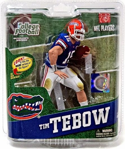 McFarlane Toys NCAA COLLEGE Football Sports Picks Series 4 Action Figure Tim Tebow (Florida Gators) Blue Jersey