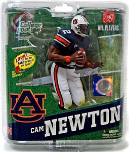 McFarlane Toys NCAA COLLEGE Football Sports Picks Series 4 Action Figure Cam Newton (Auburn Tigers) Blue Jersey