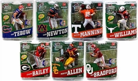McFarlane Toys NCAA COLLEGE Football Sports Picks Series 4 Set of 7 Action Figures [Newton, Tebow, Manning, Bradford, Allen, Williams & Bailey]