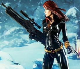Sideshow Collectibles Marvel  Premium Format Polystone Statue Black Widow Pre-Order ships April