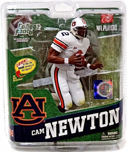 McFarlane Toys NCAA COLLEGE Football Sports Picks Series 4 Action Figure Cam Newton (Auburn Tigers) White Jersey All Star Collector Level Only 100 Made!