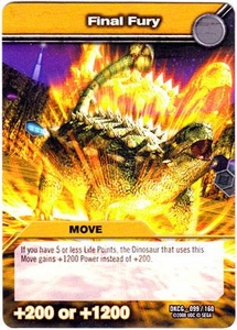 Dinosaur King TCG Single Card Common DKCG-099 Final Fury