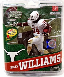 McFarlane Toys NCAA COLLEGE Football Sports Picks Series 4 Action Figure Ricky Williams (Texas Longhorns) White Jersey Bronze Collector Level Only 2,000 Made!