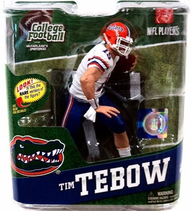 McFarlane Toys NCAA COLLEGE Football Sports Picks Series 4 Action Figure Tim Tebow (Florida Gators) White Jersey Bronze Collector Level Only 2,000 Made!