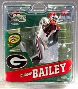 McFarlane Toys NCAA COLLEGE Football Sports Picks Series 4 Action Figure Champ Bailey (Georgia Bulldogs) White Jersey Gold Collector Level