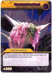 Dinosaur King TCG Single Card Silver DKCG-130 Survival Instinct