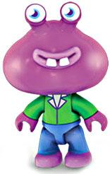 Moshi Monsters Mega Bloks Mini Figure Purple Guy with Green Shirt