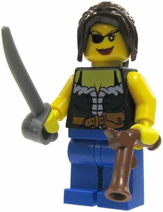 LEGO Pirate LOOSE Mini Figure Pirate Wench [Flintlock Pistol]