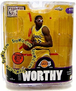 McFarlane Toys NBA Sports Picks Legends Series 3 Action Figure James Worthy (Los Angeles Lakers) Yellow Jersey