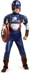 Disguise Costume Captain America #28665 Captain America Movie Classic Muscle [Child]