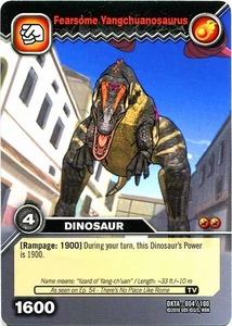 Dinosaur King Time Warp Adventures Single Card Common DKTA-004 Fearsome Yangchuanosaurus