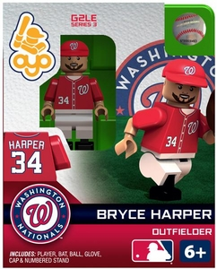 OYO Baseball MLB Generation 2 Building Brick Minifigure Bryce Harper [Washington Nationals]