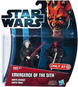 Star Wars 2012 Movie Heroes Exclusive Action Figure 2-Pack Emergence of the Sith [Darth Sidious & Darth Maul]