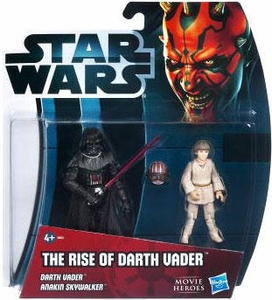 Star Wars 2012 Movie Heroes Exclusive Action Figure 2-Pack Rise of Darth Vader [Darth Vader & Anakin Skywalker]