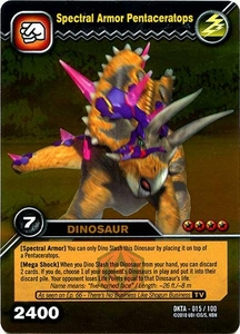 Dinosaur King Time Warp Adventures Single Card Gold Foil DKTA-015 Spectral Armor Pentaceratops