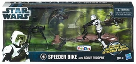 Star Wars Exclusive Vehicle Playset Speeder Bike with Scout Trooper