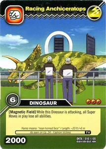 Dinosaur King Time Warp Adventures Single Card Common DKTA-016 Racing Anchiceratops